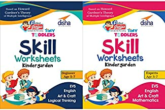 Perfect Genius Tiny Toddlers Skill Based Worksheets for Kindergarten (KG) - Science, Maths, Art, Craft, English (Ages 5-7)