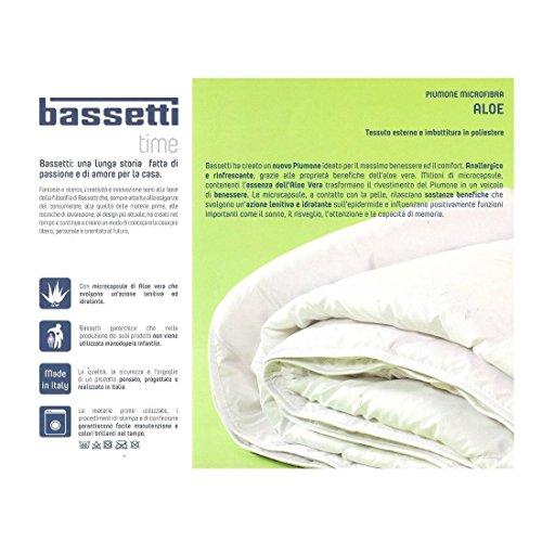 Bassetti Piumino Leggero Microfibra Matrimoniale con microcapsule di Aloe Vera 250 * 200 Adatto alle Stagioni Primaverili e Stive