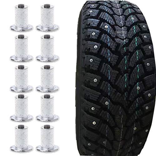 YHtech 100 Piezas Spikes neumáticos de neumático de la Bici Pernos de la Rueda Neumático Plano Spikes Nieve del Invierno Universal 9-10-1mm Car-Styling Nieve Cadenas Piezas