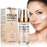 Base de Maquillaje,Hidratante Líquido Base,Base Líquida,Base de maquillaje Cobertura completa Nuevo,24H Base de Maquillaje de Larga Duración