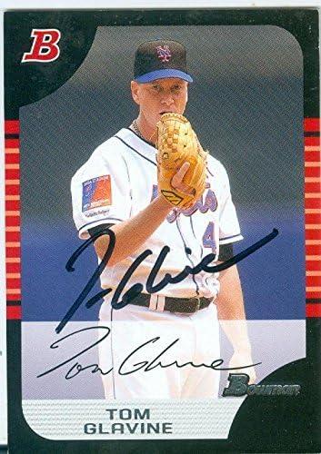 Autograph Warehouse 246771 Tom Glavine Autographed Baseball Card New York Mets 2005 Topps Bowman product image
