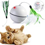 DYBOHF Jouet Chat Balle, Chargement USB, Chaton Jouet d'exercice, Boule Auto-rotative...