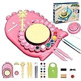 QINFANYU Máquina cerámica Hecha a Mano de niños, Kit de Ruedas de cerámica eléctrica Bricolaje Trabajo cerámico Hecho a Mano Creativo for niños y Principiantes. (Color : Pink)
