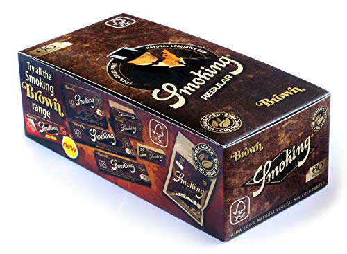Smoking Brown No. 8 ungebleichtes Zigarettenpapier regular kurz Braun 1 Boxen (50x Heftchen/Booklets)