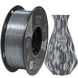 ERYONE Ultra Silk PLA Filament for 3D Printer, 1.75mm, Tolerance: ±0.03mm, 1kg (2.2LBS)/Spool, Silver