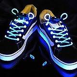 Kimberleystore - Lacci LED per le scarpe, lacci creativi e alla moda che si illuminano, colore: blu