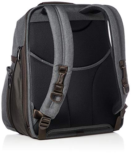 TUMI - Alpha 3 Slim Solutions Laptop Brief Pack - 15 Inch Computer Backpack for Men and Women - Anthracite
