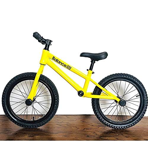 Bicicleta Sin Pedales Bicicleta de balance grande de 16 pulgadas para niños grandes 5-12 años, rojo / amarillo Sin pedal de entrenamiento de pedal, para personas altas altura 120-145cm ( Color : B )