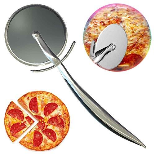 HELLOCAM Taglia Pizza Rotella Tagliapizza Acciaio Inox Professionale Alta QualitàTagliapizza con Affilata Lama Rotella Pizza con Salvalama e Manico Antiscivolo, Lavabile in Lavastoviglie
