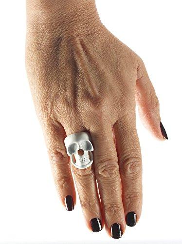 Bristol Novelty 73610 Anillo de calavera esqueleto talla única
