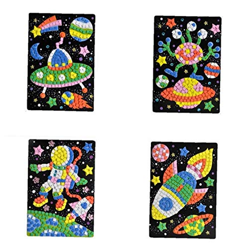 Mosaico Engomada Del Arte Kits De Arte a Mano Bricolaje Adhesivas Para Puzzle Niños Etiqueta De Juguetes Educativos-ufo, Extranjero, Astronauta, Patrón De La Nave Espacial (1 Juego) Hn0006a - 6d