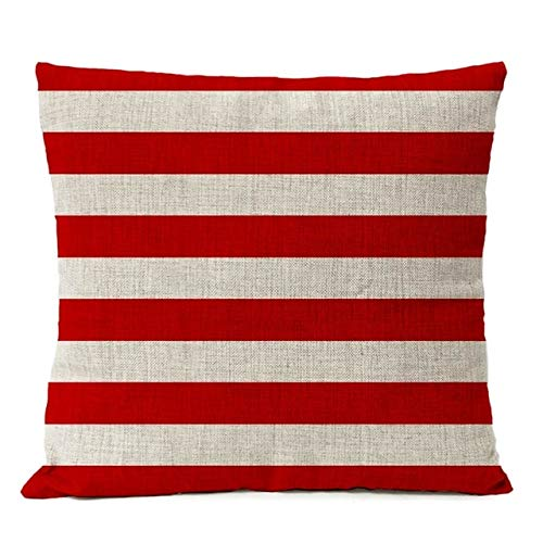 SHASO Geometric Red Mas Kissenbezug Streifen Kissenbezug Home Dekorative Throw Linen Kissenbezug Sofa Kissenbezüge Dickes Leinen C 45X45Cm