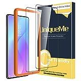 [2 Pack] UniqueMe Compatible con Xiaomi Mi 9T / Mi 9T Pro / Redmi K20 / K20 Pro Protector de Pantalla , Vidrio Templado [9H Dureza] [Marco de Alineación] HD Film Cristal Templado