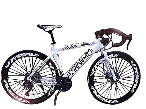 Road Bikes, 27' Wheel Road Bike Full Steel Racing Bike Road Bicycle with 24 Gear Speed Derailleur...