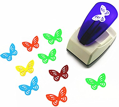 TECH-P Creative Life Crafts Engraving Hole Punch 2-Inch -DIY Paper Punch for Card Scrapbooking Craft Punch Embossing Border School Supplies. (Butterfly-1)