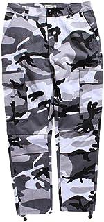Mxssi Color Camo BDU Camouflage Cargo Pants Uomo Donna Casual Streetwear Tasche Jogger Arancione Tattico Pantaloni Sportiv...