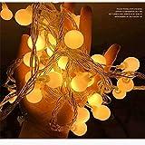 Guirnalda de luces LED de cadena de bolas Luces de Navidad Guirnalda interior Decoración navideña Cuerdas de luz Batería 3m30 leds