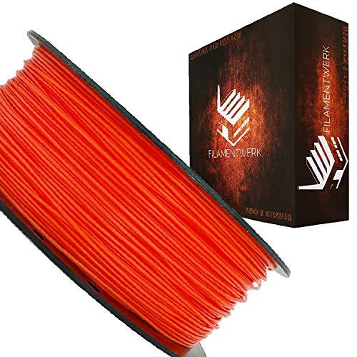 Filamentwerk 3D-Drucker PET-G 1,75mm 1kg Spule Rolle (Neon Orange)