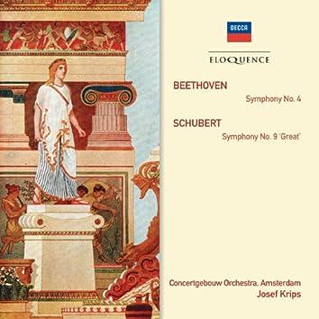 "Beethoven: Symphony No.4; Schubert: Symphony No.9 - ""Great"""
