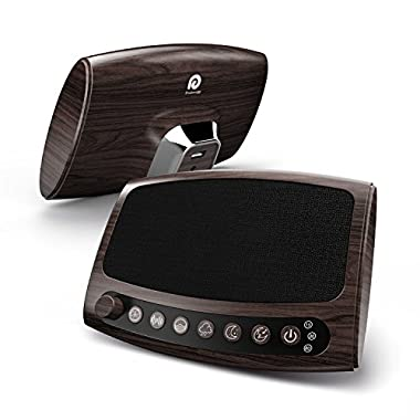 Dreamegg Sound Machine, 6 Relaxing Sounds Including Fan, White Noise, Ocean, Rain, Summer Night and Lullaby, Built in timer (Wood Grain)