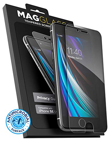 Magglass 2020 iPhone SE Privacy Screen Protector - Anti Spy Fingerprint Resistant Tempered Glass...