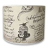 Royal Designs Modern Trendy Decorative Handmade Lamp Shade - Made in USA - Vintage Letter Caligraphy Design -10 x 10 x 8