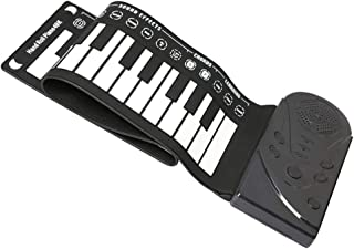 ULTNICE Roll Up Piano 49 Keys Portable Folding Keyboard Beginner Digital Electronic Piano Musical Instrument Gift for Kids...