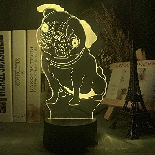 APXZC Nuevo tobogán de luz Nocturna para Perros 3D para niños con 7 Cambios de Color USB LED Sensor táctil Junto a la Cama decoración de la habitación de los niños lámpara de Mesa