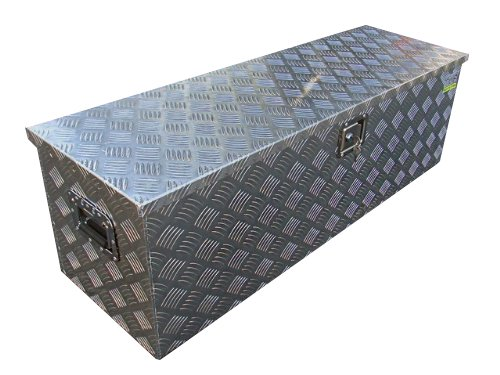 TMS Aluminum Tool Box Tote Storage for Truck Pickup Bed Trailer Tongue 49'x15' +Lock