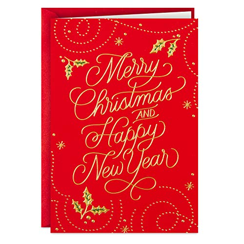 Hallmark Boxed Christmas Cards (Red Merry Christmas, 16 Cards and 17 Envelopes)