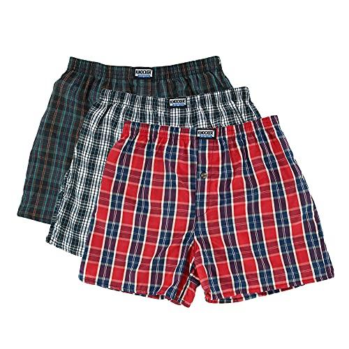 6 Men Plaid Boxer Shorts Underwear (Large)