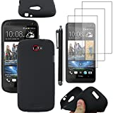 ebestStar - Coque HTC One S Etui Housse Silicone Gel TPU Souple Anti-Choc + Stylet +...