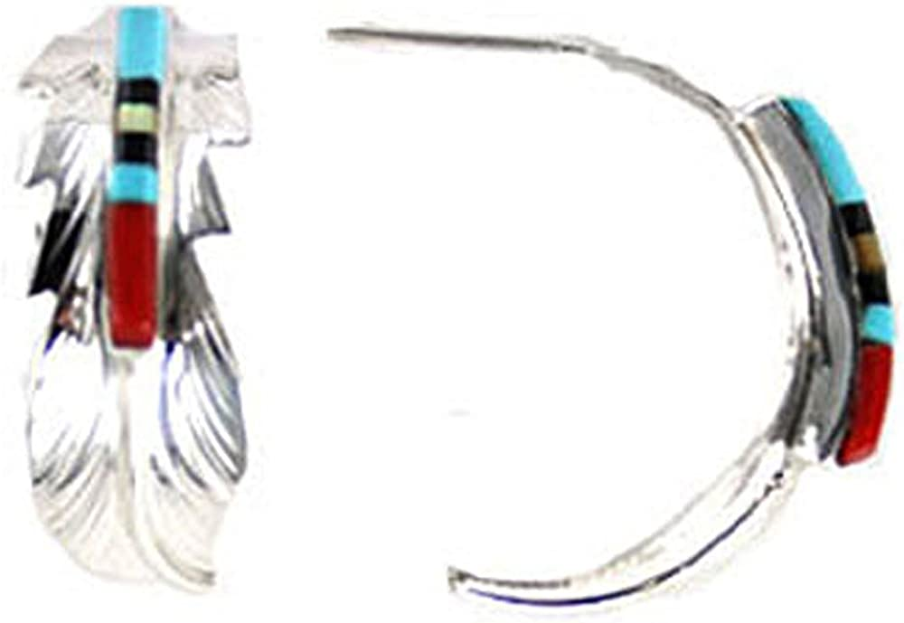 By Navajo Artist Freddy Half-Hoop Large Rare Complete Free Shipping Barney: Sterling-silver