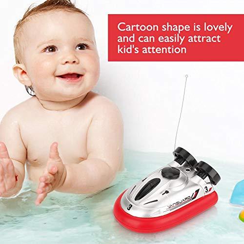 Dilwe Hovercraft Spielzeug, Mini Fernbedienung Boot RC Elektrische Schnellboot Hovercraft Submarine Wasser Spielzeug für Kinder ( Rot)