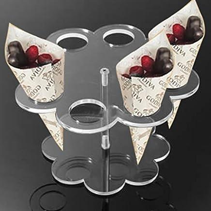 Preisvergleich für Honosu Abnehmbare 8 Löcher Acryl Eis Kegel Halter Ständer