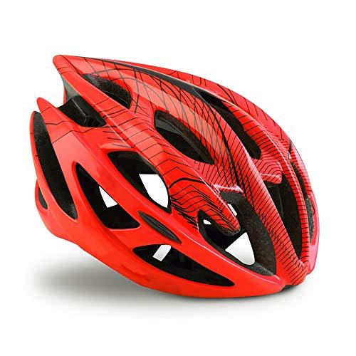 WSXD Extérieur VTT All-terrian Casque de vélo ultraléger Route Casque VTT Sport Ventilé randonnée à vélo Helmey (Color : Orange Red, Size : L(58 62))