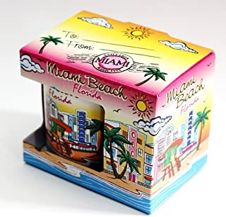 Miami Beach Florida Skyline Ceramic Boxed Coffee Mug (4