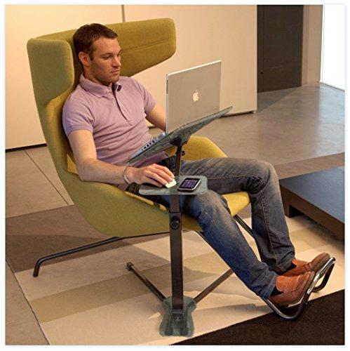 Lounge-book Crystal - Supporto ergonomico completamente regolabile per Laptop. Il Porta-computer per lavorare da casa e Smartworking