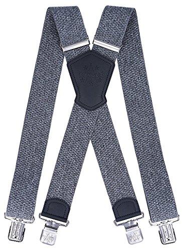 Ranger Herrenhosenträger X Form robust Dx50 2 (Graue Melange 1)