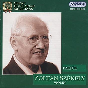 Bartok: Violin Concerto No. 2 / Rhapsodies Nos. 1-2 (Szekeley) (1939)