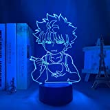 Lampe illusion 3D Hunter X Hunter Killua lumière LED Hxh Led cadeau acrylique néon lampe 3d Killua mignon pour enfants chambre décor-16_color_with_remote