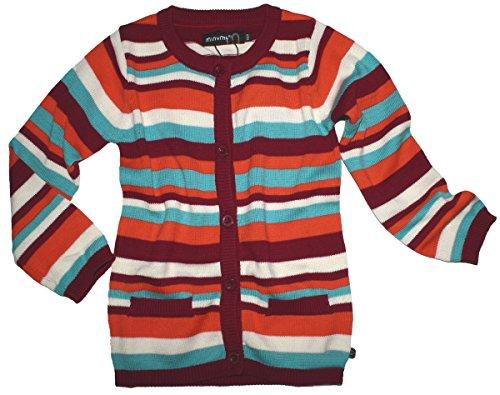 Leichte schmal geschnittene Strickjacke bunte Streifen von MINYMO 140029 Size 134
