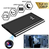 TTCDBF HD1080P 5000mhA Portable Power Bank hidden Camera 12 Hour Continuous Video Recording Nanny Cam Home and Office Security spy Camera, Recording Video While Charging Night Vision no WiFi。