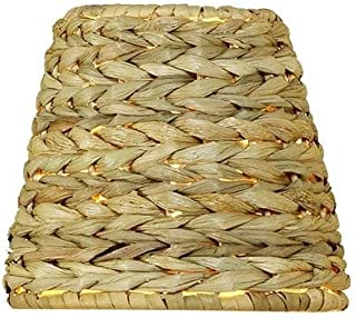 Upgradelights All Natural Woven Seagrass 12 Inch Washer Fitted Lampshade (6x12x8)