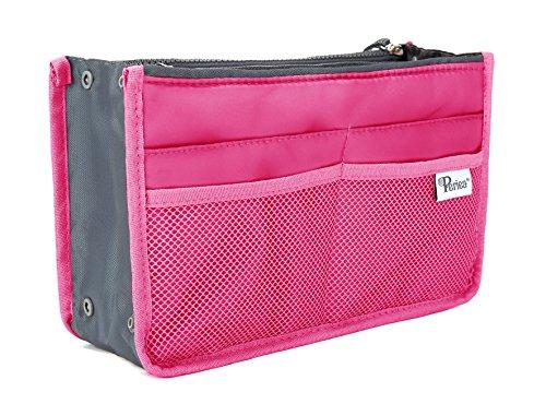 Periea Handtaschen Organizer - Chelsy - 28 Farben erhältlich - Klein, Mittel & Groß (Leuchtend Rosa, Mittel)