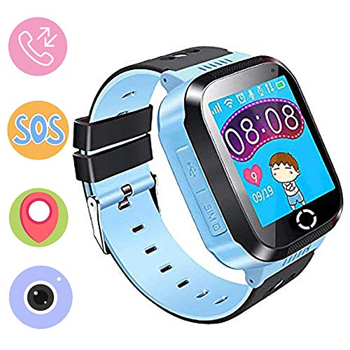 Kinder Smartwatch Phone,Digital Watch with Games, SOS and 1.44 inch Touch LCD for Boys Girls Birthday (Blau) (pink) (Blue)