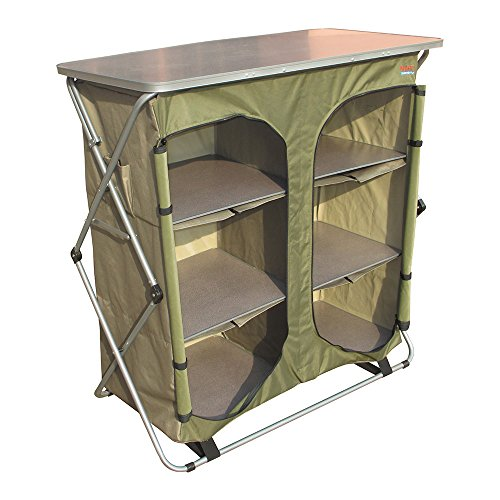 Bushtec Adventure Sierra Double Canvas Camp Cupboard, Camping Table or Outfitter Cupboard, Table.