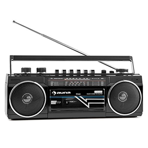 auna Duke - Minicadena , Radiocassette , Radio FM , Puerto USB...