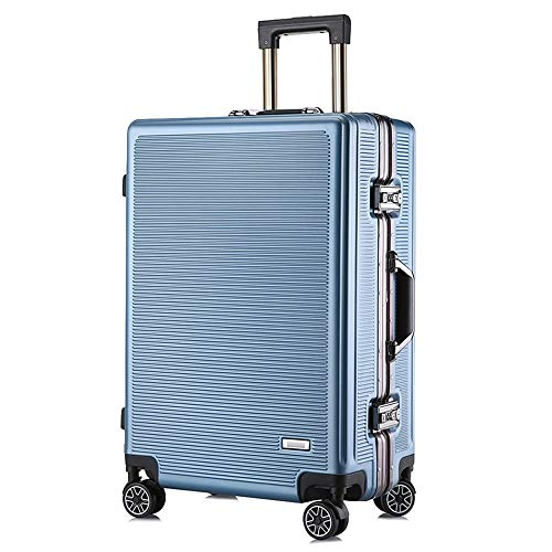 Check Out This Gohbqany-Bag Luggage PC Stripe 24 Inch Male Suitcase Special Shaped Box Customs Lock ...