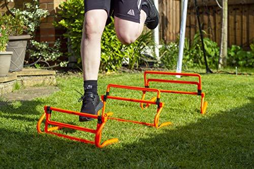 Football Flick Football & Sports Multi Height Hurdles (Pack of 3)